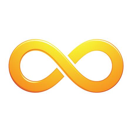 無限大のシンボル デザイン、白い背景で隔離のイラスト