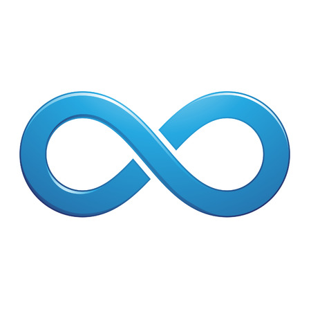 Illustration of Infinity Symbol Design isolated on a white background Ilustração