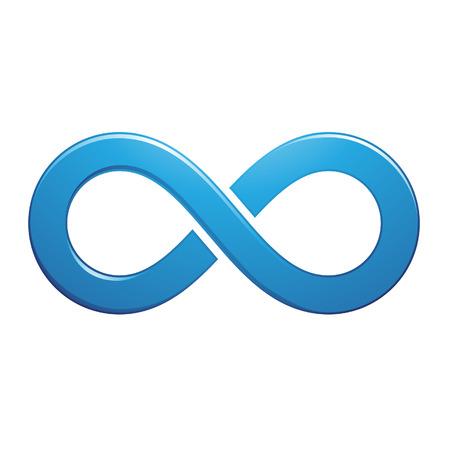 infinito simbolo: Illustrazione di Infinity design simbolo isolato su uno sfondo bianco