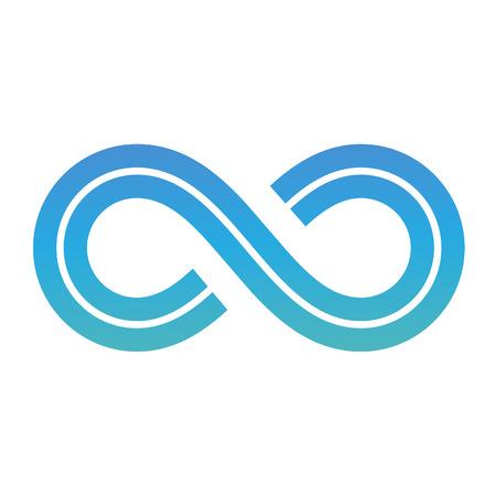 signo infinito: Ilustraci�n del s�mbolo del infinito del dise�o aislado en un fondo blanco