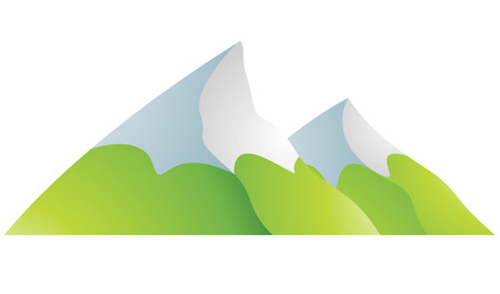 rocky mountains: Illustration of Snowy Mountains Cartoon isolated on a white background Illustration