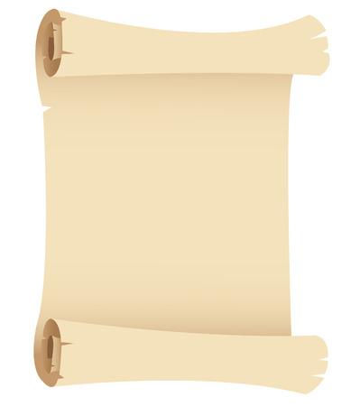 parchemin: Illustration de vieux papier banni�re isol� sur un fond blanc