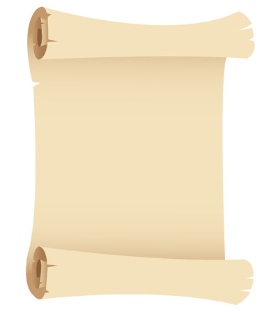 papyrus: Illustration of Old Paper Banner isolated on a white background