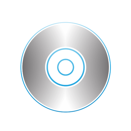 storage device: Illustration of PC Accessories Cd Dvd Blu-Ray Disk isolated on a white background Illustration