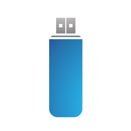 usb disk: Illustration of PC Accessories Usb Stick isolated on a white background