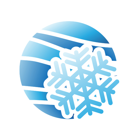 weather terms: Illustration of Winter Season Icon isolated on a white background
