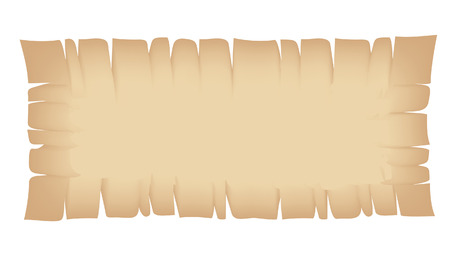 medieval banner: Illustration of Rectangle Beige Torn Banner isolated on a white background Illustration
