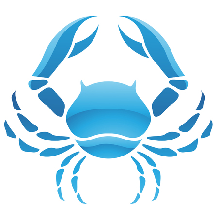 cancer crab: Illustration of Cancer Zodiac Star Sign isolated on a white background