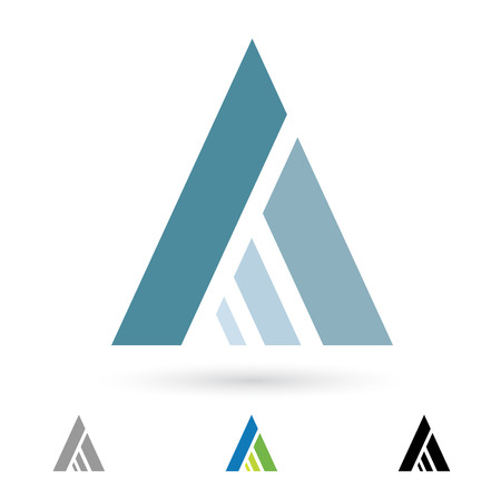 tipos de letras: Ilustraci�n de los iconos abstractos basados ??en la letra A