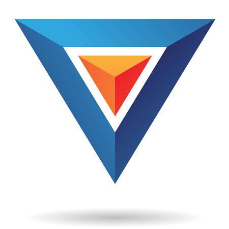 triangulo: La pir�mide del tri�ngulo abstracta del icono Vectores