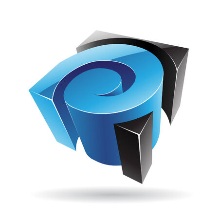 cubical: Colorful 3d Cubical Abstract Icon Illustration