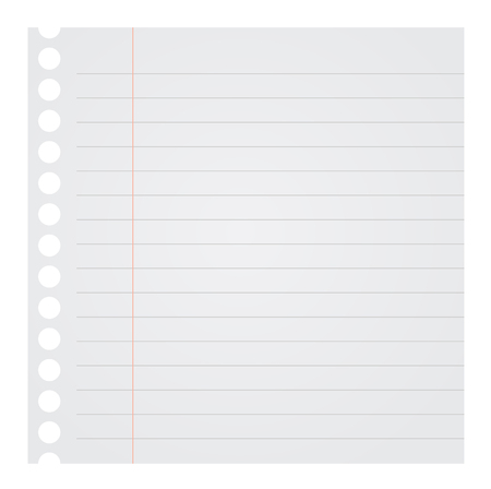 note pad: Blank Note Paper Vector Illustration