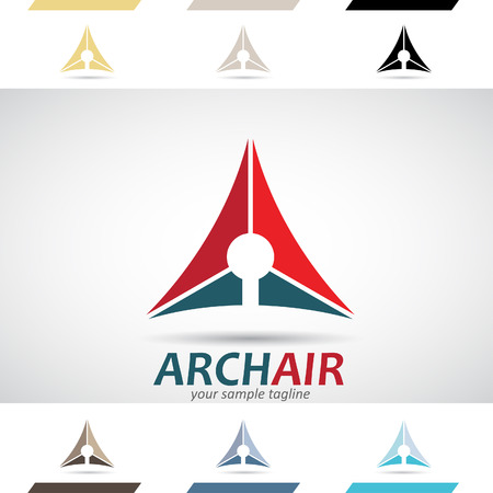 capital letter: Design Concept of Colorful Stock Logos Icons and Shapes of Letter A, Vector Illustration