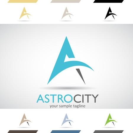 カラフルな在庫ロゴ アイコンのデザイン コンセプトと a の図形、ベクトル イラスト