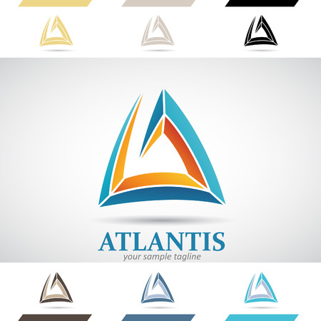 stock clip art icon: Design Concept of Colorful Stock Logos Icons and Shapes of Letter A, Vector Illustration