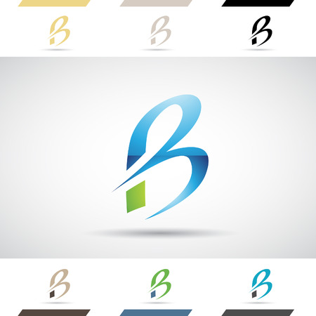letter: Design Concept of Colorful Stock   Icons and Shapes of Letter B, Vector Illustration