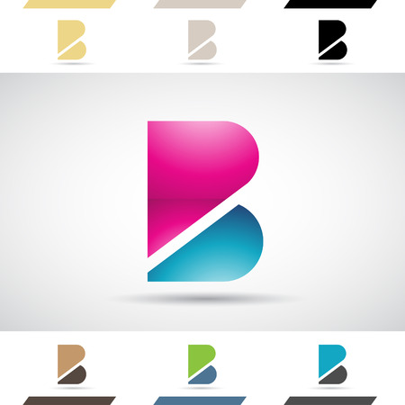 B: Design Concept of Colorful Stock   Icons and Shapes of Letter B, Vector Illustration