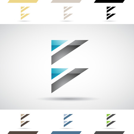 stock clip art icons: Design Concept of Colorful Stock Logos Icons and Shapes of Letter B, Vector Illustration