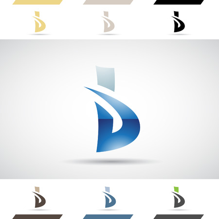creative arts: Design Concept of Colorful Stock   Icons and Shapes of Letter B, Vector Illustration
