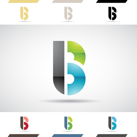 capital letter: Design Concept of Colorful Stock   Icons and Shapes of Letter B, Vector Illustration