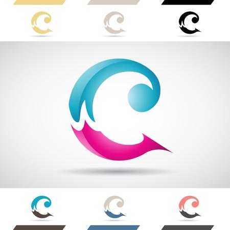 letras negras: Concepto de diseño de colores stock Logotipos iconos y las formas de la letra C, ilustración vectorial