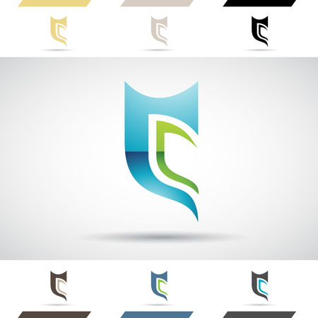 letter c: Design Concept of Colorful Stock Logos Icons and Shapes of Letter C, Vector Illustration Illustration