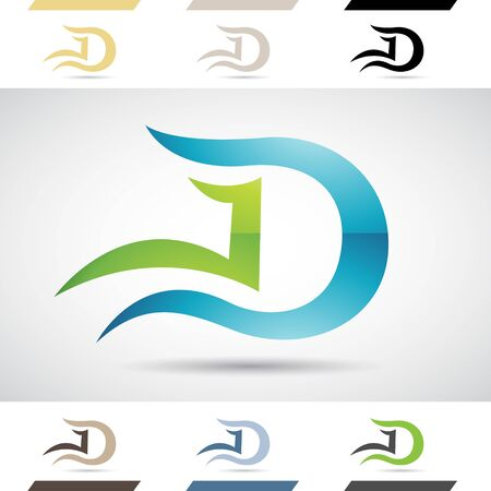 capital letter: Design Concept of Colorful Stock Icons and Shapes of Letter D Illustration