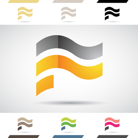 stock clip art: Design Concept of Colorful Stock Icons and Shapes of Letter F