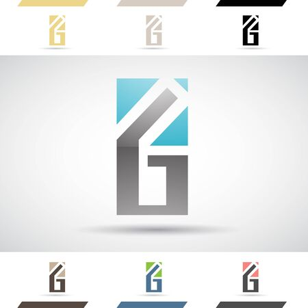 letter g: Design Concept of Colorful Stock Icons and Shapes of Letter G