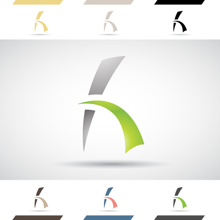 stock clipart icons: Design Concept of Colorful Stock Icons and Shapes of Letter H Illustration