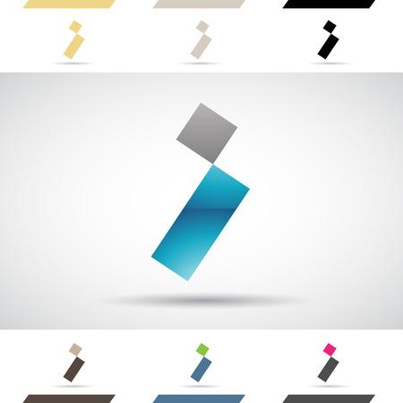 rectángulo: Concepto de diseño de coloridos iconos de archivo y formas de la letra I Ilustración