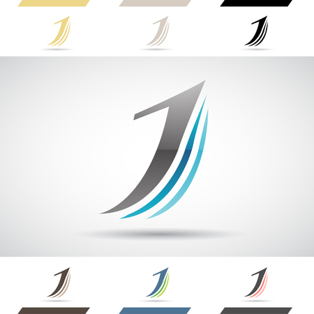 J: Design Concept of Colorful Stock Icons and Shapes of Letter J Illustration Illustration