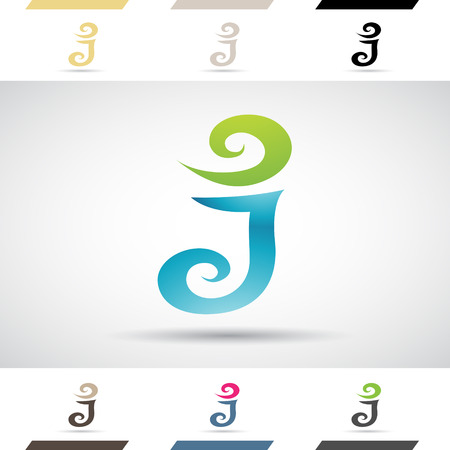stock clip art: Design Concept of Colorful Stock Icons and Shapes of Letter J Illustration Illustration