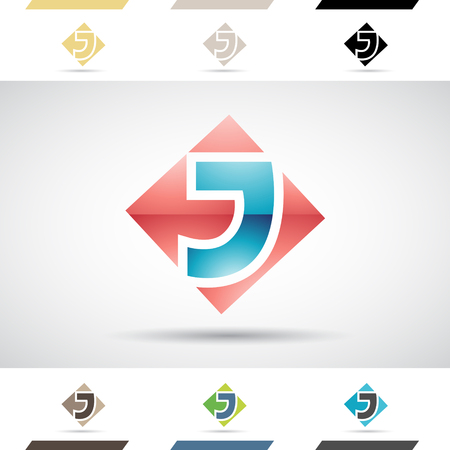 stock clipart icons: Design Concept of Colorful Stock Icons and Shapes of Letter J Illustration Illustration