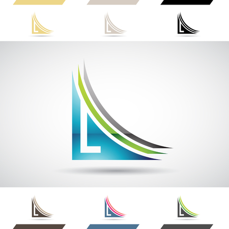 stock clipart icons: Design Concept of Colorful Stock Icons and Shapes of Letter L Illustration