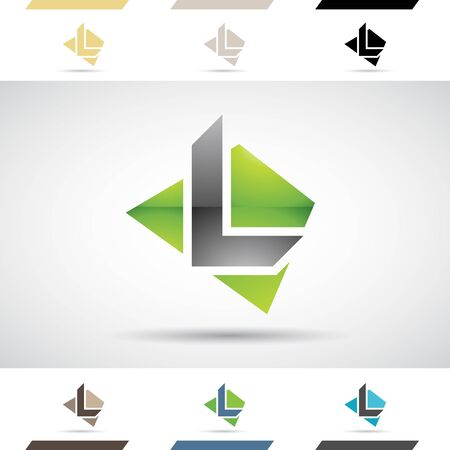 abstract letters: Design Concept of Colorful Stock Icons and Shapes of Letter L Illustration
