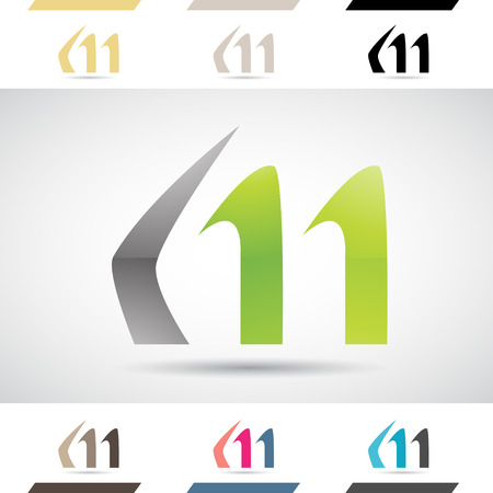 letter m: Design Concept of Colorful Stock Icons and Shapes of Letter M