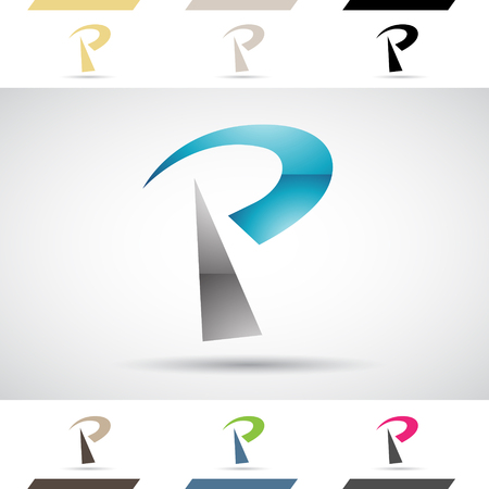 stock clip art icon: Design Concept of Colorful Stock Icons and Shapes of Letter P Illustration