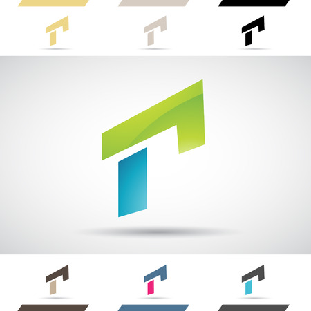 capital: Design Concept of Colorful Stock Icons and Shapes of Letter R