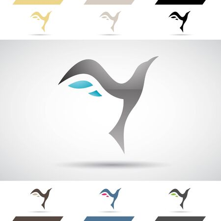 wing: Design Concept of Colorful Stock Icons and Shapes of Letter Y Illustration