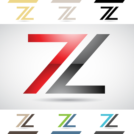 Design Concept of Colorful Stock Icons and Shapes of Letter Z Illustration
