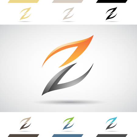 letter z: Design Concept of Colorful Stock Icons and Shapes of Letter Z Illustration