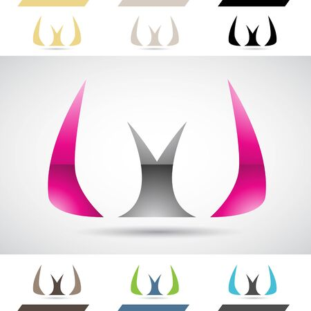 stock clip art: Design Concept of Colorful Stock Icons and Shapes of Letter W