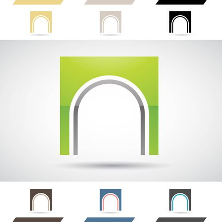 n: Design Concept of Colorful Stock Icons and Shapes of Letter N