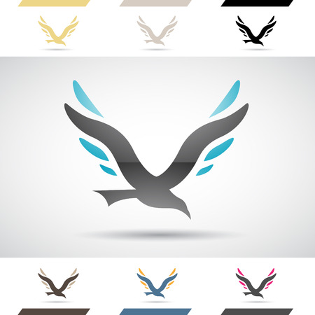 v shape: Design Concept of Colorful Stock Icons and Shapes of Letter V