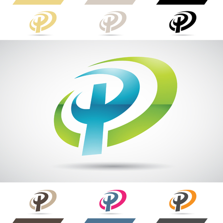 stock clip art: Design Concept of Colorful Stock Icons and Shapes of Letter P Illustration