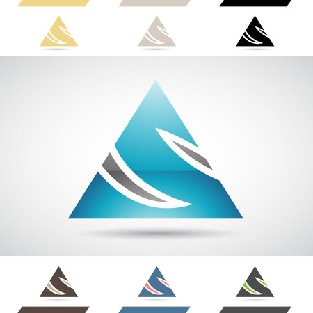 stock clip art icon: Design Concept of Colorful Stock Icons and Shapes of Letter S