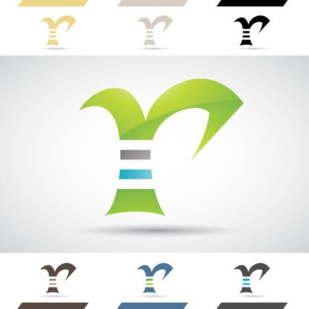 stock clipart icons: Design Concept of Colorful Stock Icons and Shapes of Letter R