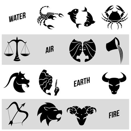 Illustration of Zodiac Star Signs Illustration