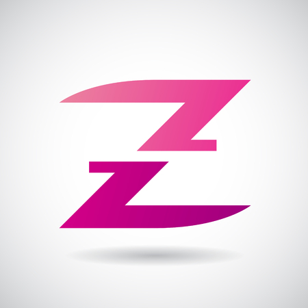stock clip art icon: Design Concept of a Colorful Stock Icon of Letter Z, Vector Illustration